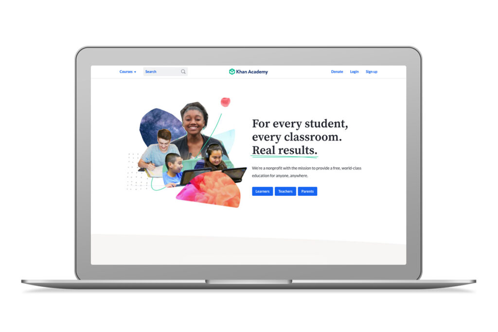 Imagem do website da Khan Academy