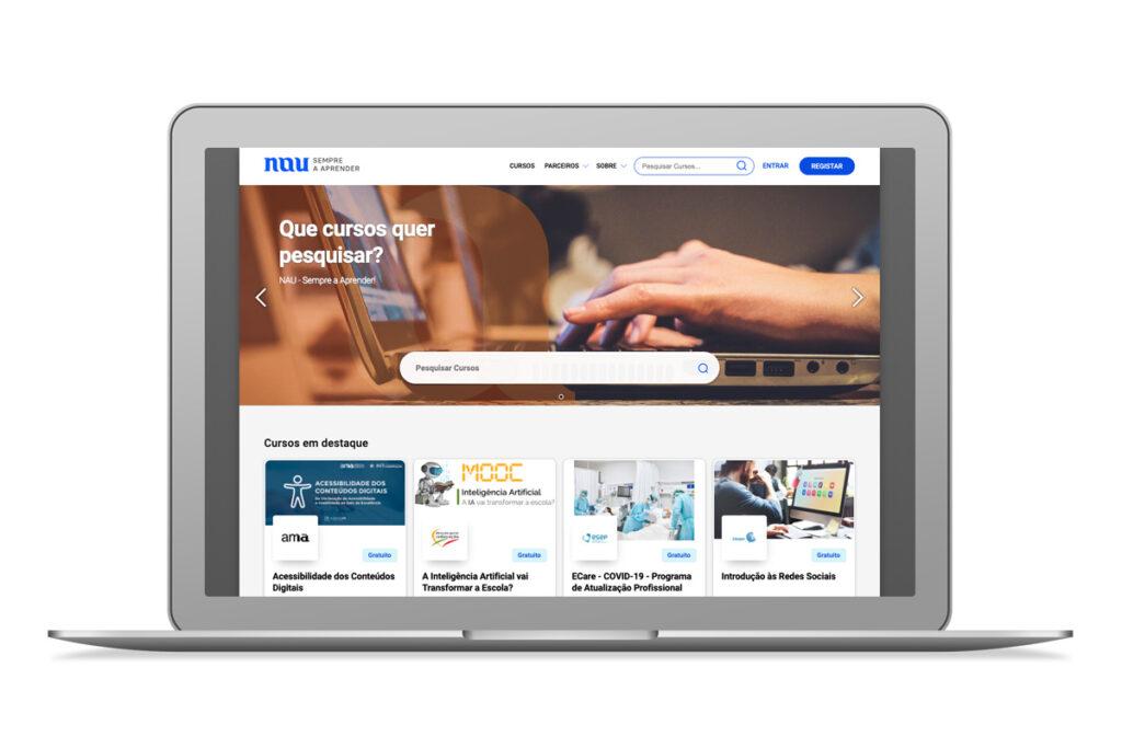 Imagem do website da Plataforma Nau