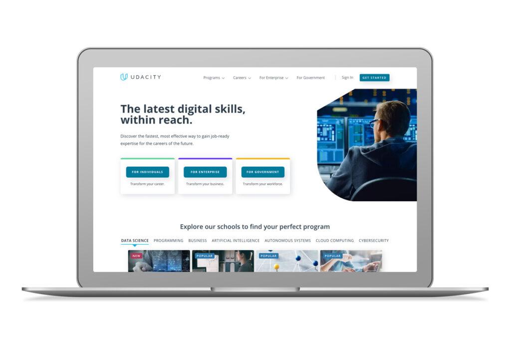 Imagem do website da Udacity