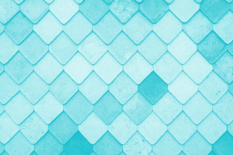 Fotografia de mosaicos de um telhado mesa alusiva ao conceito de processo de design