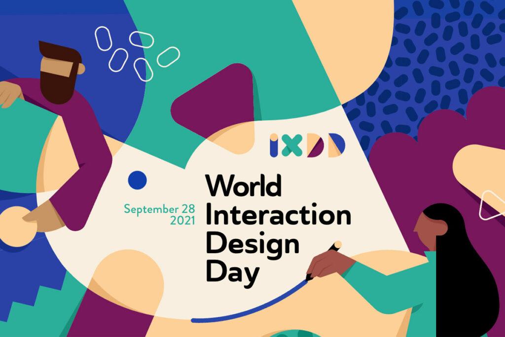Ilustração promocional da edição de 2021 do Dia Mundial do Design de Interação